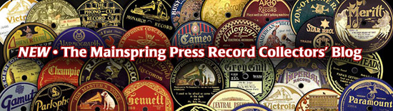 MAINSPRING PRESS RECORD COLLECTORS' BLOG